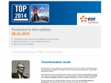 Site internet : EDF Luminus Newsletter