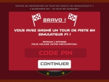 Game won validated by PIN code